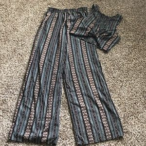 Blue Patterned two Piece